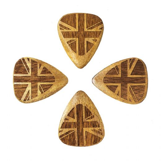 Flag Tones Union Jack Rose Apple 4 Guitar Picks